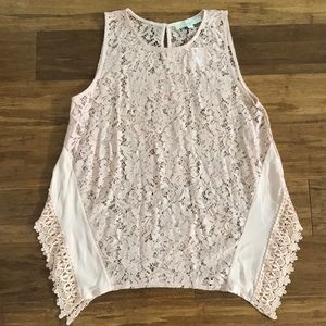 LOFT Sleeveless Lace Top